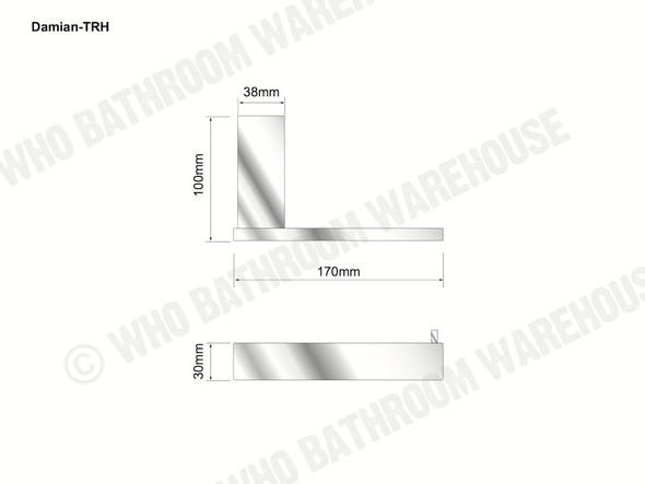 Damian Toilet Roll Holder Bathroom Accessory (Black Matt) - 13099