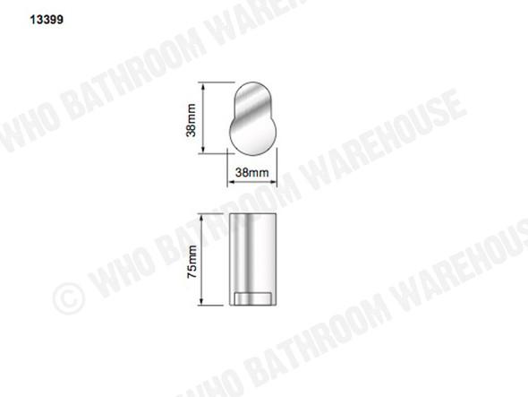 Katherine Robe Hook Bathroom Accessory (Polished Stainless) - 13399