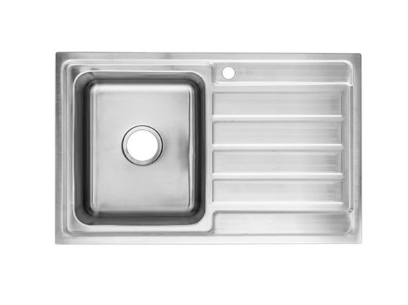 Coventry 800-Left Kitchen Sink/Trough (Linished Stainless) - 13741