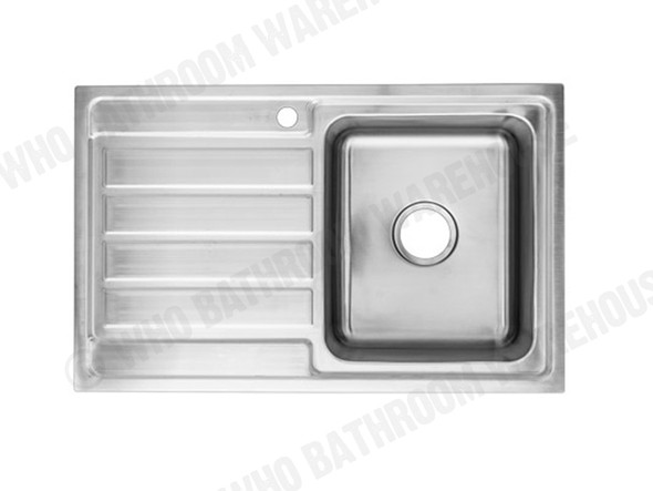 Coventry 800-Right Kitchen Sink/Trough (Linished Stainless) - 13742