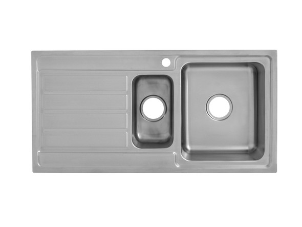 Coventry 1000D-Right Kitchen Sink/Trough (Linished Stainless) - 13744