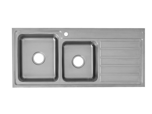 Coventry 1120D-Left Kitchen Sink/Trough (Linished Stainless) - 13745