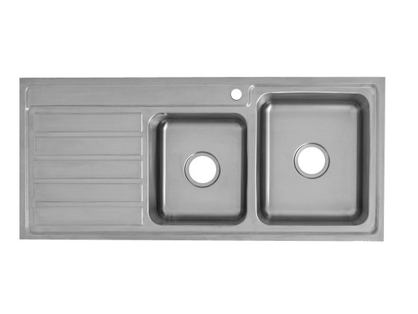 Coventry 1120D-Right Kitchen Sink/Trough (Linished Stainless) - 13746
