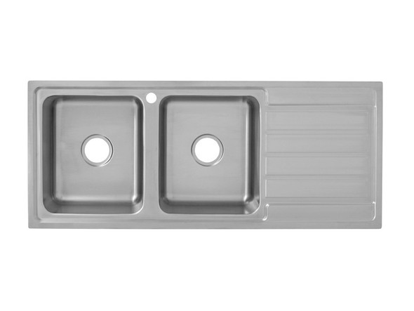 Coventry 1200D-Left Kitchen Sink/Trough (Linished Stainless) - 13747