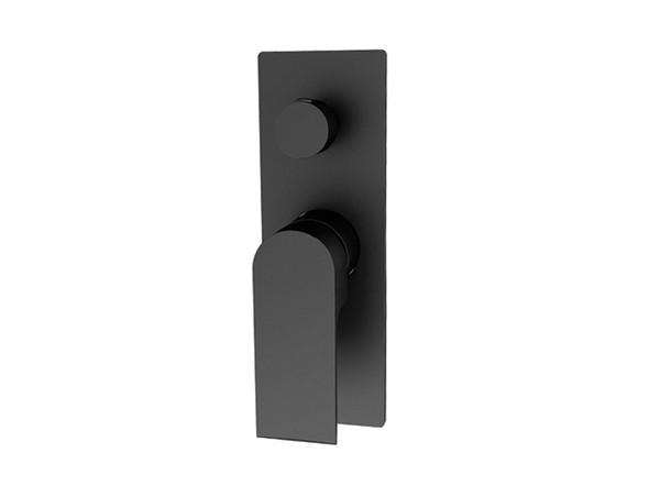 Vitra Diverter Wall Mixer Tap (Matt Black) - 13338