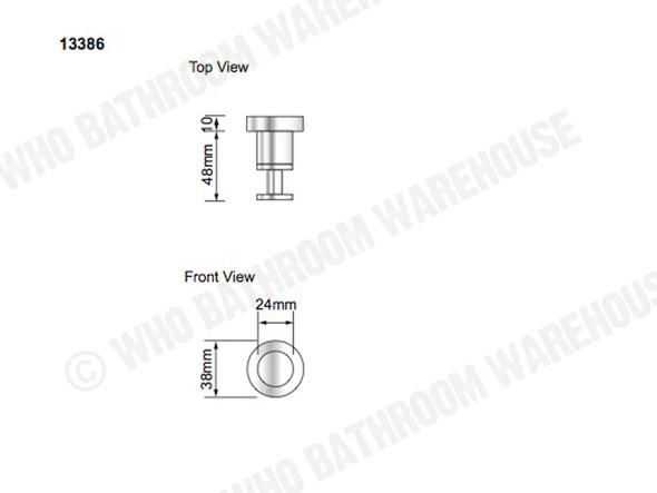 Samantha DLX Robe Hook Bathroom Accessory (Polished Stainless) - 13386