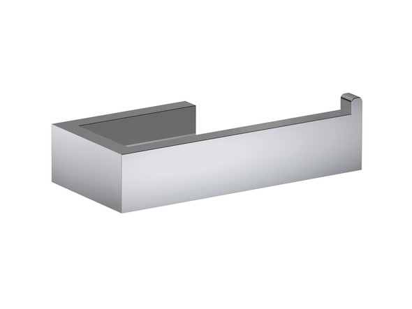 Damian DLX Toilet Roll Holder Bathroom Accessory (Polished Stainless) - 13392