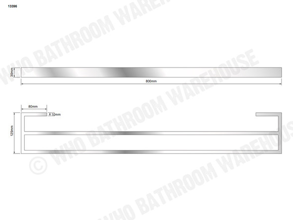 Damian DLX Double Towel Rail Bathroom Accessory (Polished Stainless) - 13396