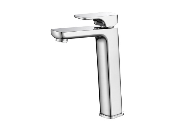 European design basin mixer tap - Highest quality ceramic disk operation - Single lever mixer controls both water temperature and flow - Manufactured from high quality solid brass with a highly polished chrome finish.