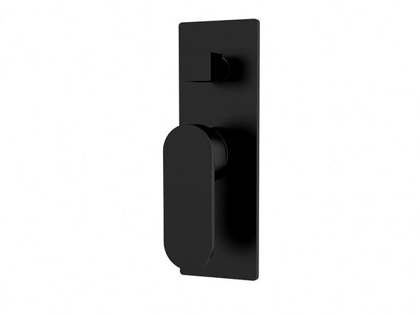 Ecco Diverter Wall Mixer Tap (Matt Black) - 13240