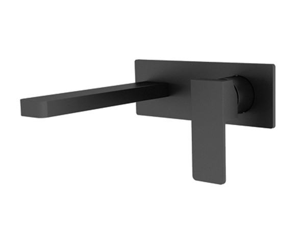 Celia Combo Wall Basin Mixer Tap (Black) - 13549