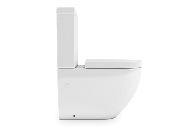 Tregear LT S or P Trap Wall Faced Toilet (White Gloss) - 13844