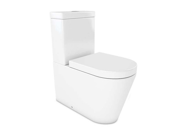European designed beautiful quality close coupled vitreous china S or P-Trap with soft close seat.