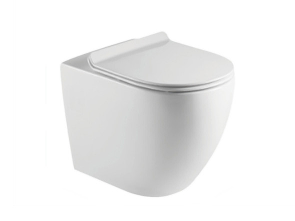 Tregear LT Concealed S or P Trap Concealed Cistern Pan Toilet (White Gloss) - 13851