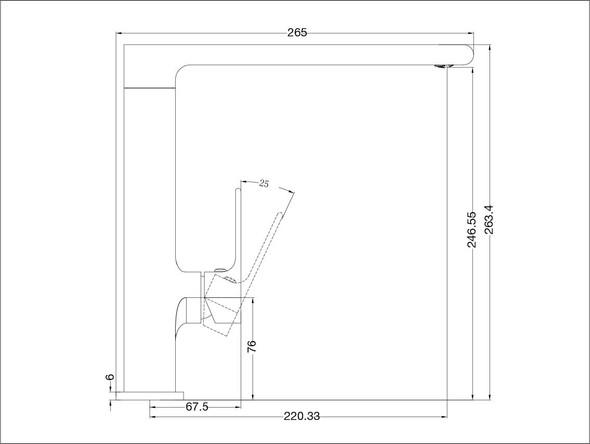 Vitra  Kitchen Mixer Tap (Brushed Nickel) - 13946