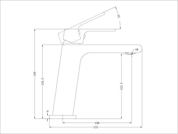 Vitra  Basin Mixer Tap (Gun Metal Grey) - 13949