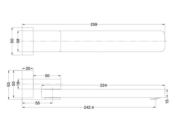 Celia Swivel Spout Tap (Chrome) - 13957