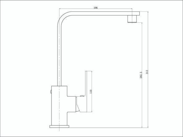 Celia Builders Range Kitchen Mixer Tap (Matt Black) - 13959
