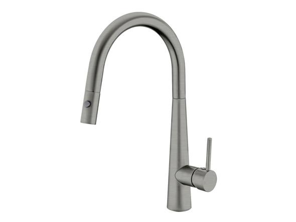 Dolce Pull Out Spray Kitchen Mixer Tap (Gun Metal Grey) - 13986