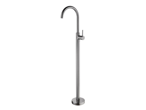 Dolce Floor Standing Bath Mixer Tap (Gun Metal Grey) - 14034