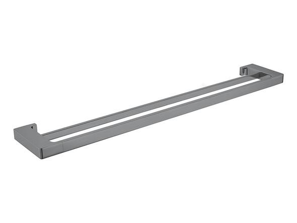 Pearl/Vitra 800mm Double Towel Rail Accessory (Gun Metal Grey) - 14057