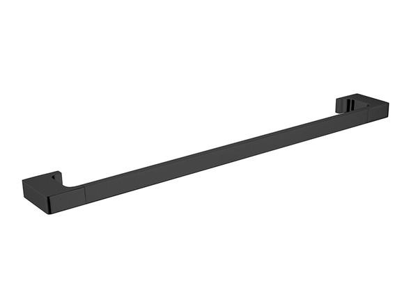 Pearl/Vitra 600mm Single Towel Rail Accessory (Matt Black) - 14063