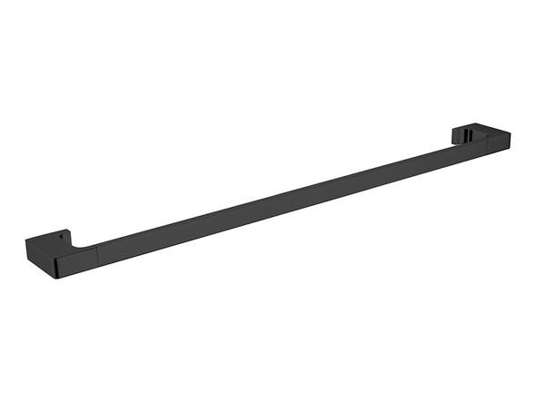 Pearl/Vitra 800mm Single Towel Rail Accessory (Matt Black) - 14065