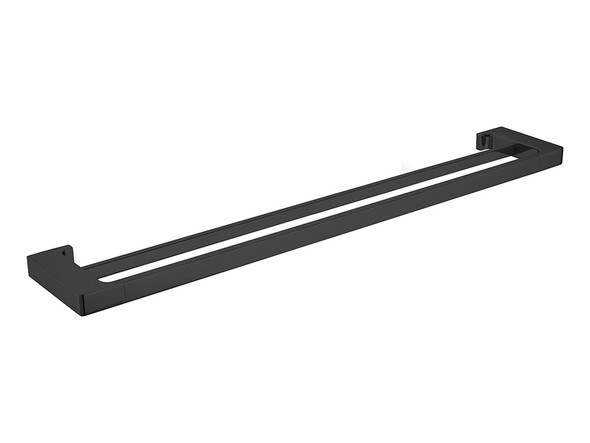 Pearl/Vitra 800mm Double Towel Rail Accessory (Matt Black) - 14066