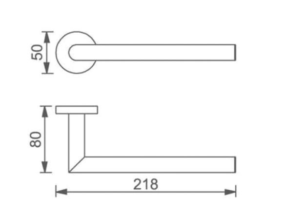 Dolce  Hand Towel Rail Accessory (Matt Black) - 14080