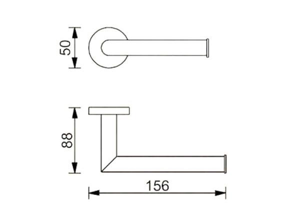 Dolce  Toilet Roll Holder Accessory (Matt Black) - 14081