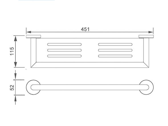 Dolce  Shower Shelf Accessory (Matt Black) - 14085