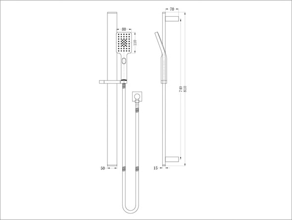 Celia  Shower Rail Set Tap (Chrome) - 14009