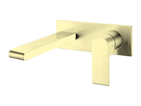 Vitra Combo Wall Basin Mixer Tap (Brushed Gold) - 14140