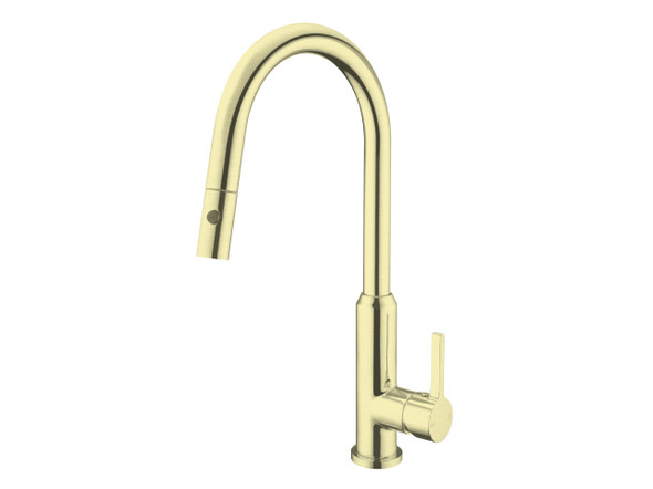 Pearl Pull Out Spray Kitchen Mixer Tap (Brushed Gold) - 14144