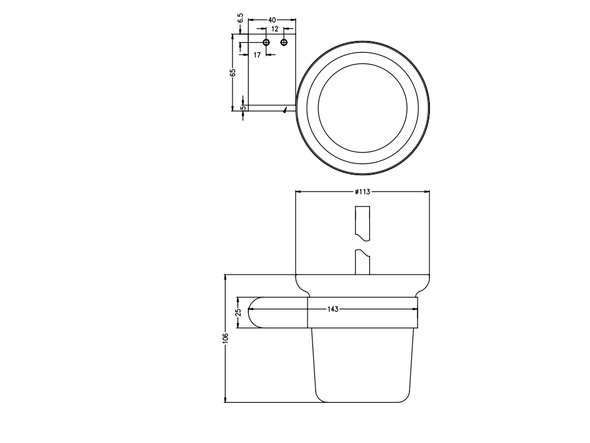 Bianca  Toilet Brush Accessory (Chrome) - 14182