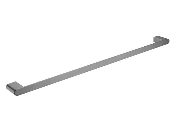 Bianca 800mm Single Towel Rail Accessory (Gun Metal Grey) - 14185