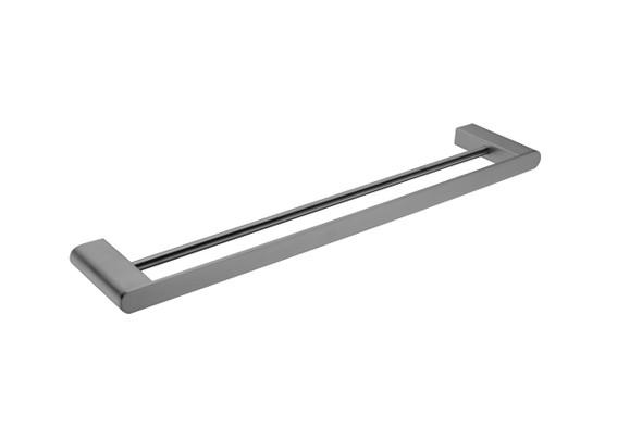 Bianca 600mm Double Towel Rail Accessory (Gun Metal Grey) - 14186