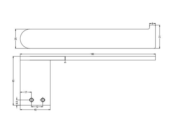 Bianca  Toilet Roll Holder Accessory (Gun Metal Grey) - 14189