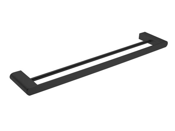 Bianca 600mm Double Towel Rail Accessory (Matt Black) - 14210