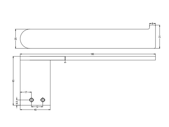 Bianca  Toilet Roll Holder Accessory (Matt Black) - 14213