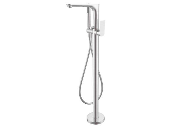 Bianca Floor Standing Bath Mixer Tap (Brushed Nickel) - 14225