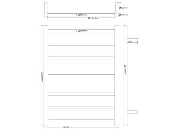 Bianca  Towel Ladder Accessory (Matt Black) - 14234