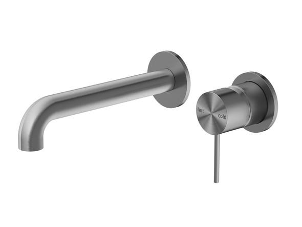 Mecca Two Piece Wall Mixer & Spout Tap (Gun Metal Grey) - 14248