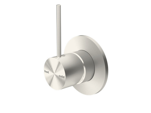 Mecca Top Lever Wall Mixer & Spout Tap (Brushed Nickel) - 14251