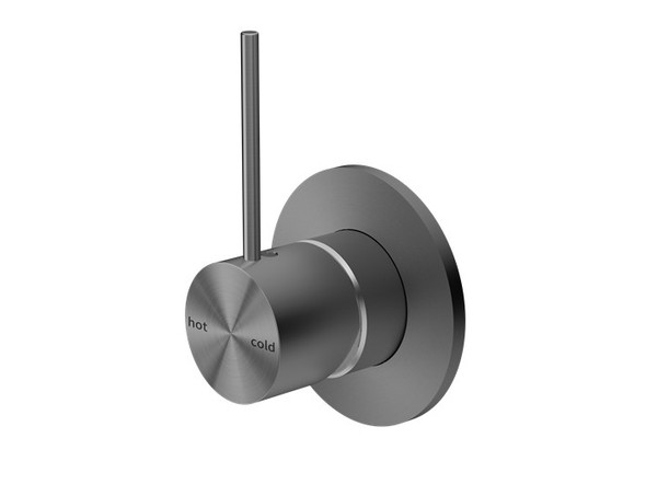 Mecca Top Lever Wall Mixer & Spout Tap (Gun Metal Grey) - 14252
