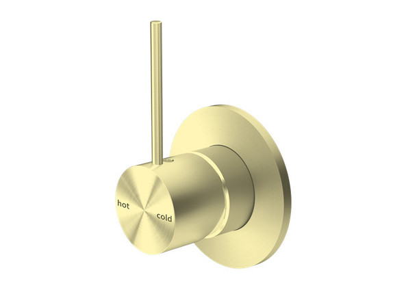Mecca Top Lever Wall Mixer & Spout Tap (Brushed Gold) - 14253