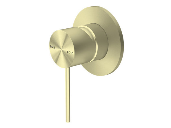Mecca Bottom Lever Wall Mixer Tap (Brushed Gold) - 14284