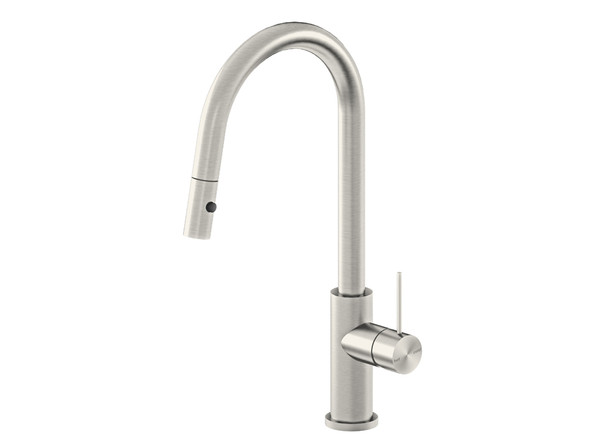 Mecca Pull Out Spray Kitchen Mixer Tap (Brushed Nickel) - 14297