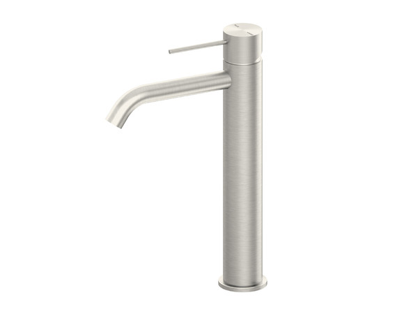 Mecca Tall Droop Spout Basin Mixer Tap (Brushed Nickel) - 14307