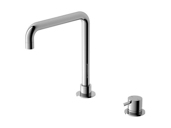 Mecca L Spout Basin Mixer Tap (Chrome) - 14329